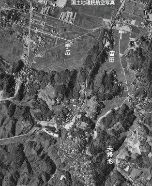 国土地理院航空写真1960年代前半:夫婦池